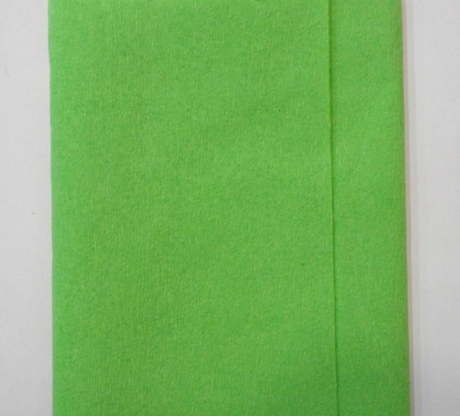 Бумага гофрированная 55% салатовая