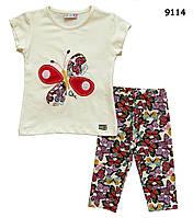 """Летний костюм """"Бабочки"""" для девочки. 5-6 лет"""