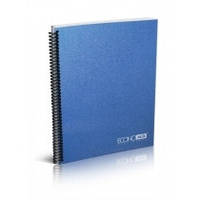 Блокнот A5 80 л , клетка пластик обложка синий