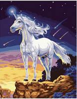 Картина по номерам Единорог на скале 40х50 см