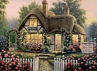 Картина по номерам Маленький домик в цветах 40х50 КНО300