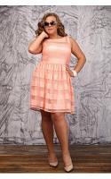 Женское Платье Свирель персик (48-72)