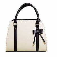 Женская кожаная сумка с короткими ручками. Сумка с бантом. Сумка через плече. Отличное качество , фото 1