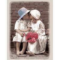 Картина по номерам Первый поцелуй KH1044 40*50 см