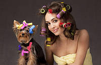 Для волос заколки, бигуди