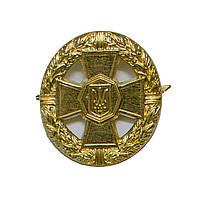 Кокарда на берет (беретный знак)   НГУ (золотистый) металический