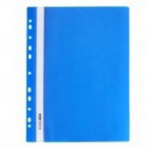 Скоросшиватель с перфорацией А4 синий, глянцевый