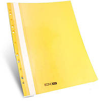 Скоросшиватель с перфорацией А4 желтый, глянцевый