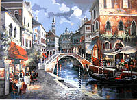 Картина по номерам Вечерний город 1129 40х50 см