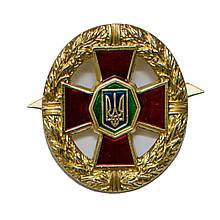 Кокарда на бере (беретный знак) НГУ (малиновий хрест) металевий