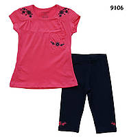 Летний костюм для девочки. 1-2;  5-6 лет