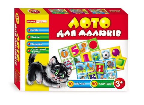 """Настольная игра Ranok-Creative Лото для малышей """"Буквы, цифры, цвета и фигуры"""""""