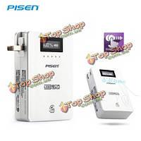 Pisen куб 10000мАh LCD  сенсорный дисплей мощность PowerBank для мобильного телефона