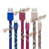 Плоский проводной образец напечатал v8 USB2.0 к кабелю micro-USB для сотового телефона