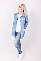 Оригинальная джинсовая женская накидка