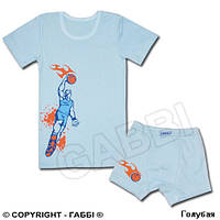 """Комплект белья """"Баскетболист"""" 128, голубой"""