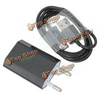 Стены зарядное устройство адаптер с 1м Micro-USB кабель для передачи данных для мобильных телефонов