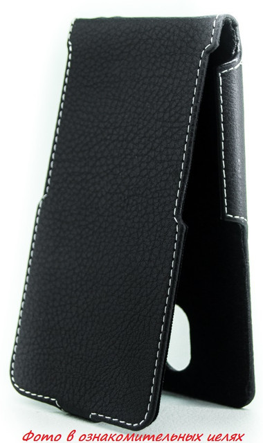 Чехол Status Flip для Huawei Honor 6 Black Matte