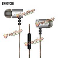 ED4 Hi-Fi KZ металла 9.6мм единица измерения шума экологический изоляции тяжелый бас вкладыши для наушников с микрофоном