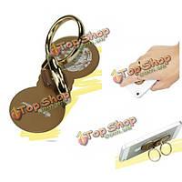 Металл двойные пальцы кольцо пряжки стенд держатель для мобильного телефона