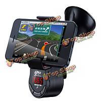 Автомобиль громкой связи FM-передатчик на 360° держатель поворота телефона для мобильного телефона