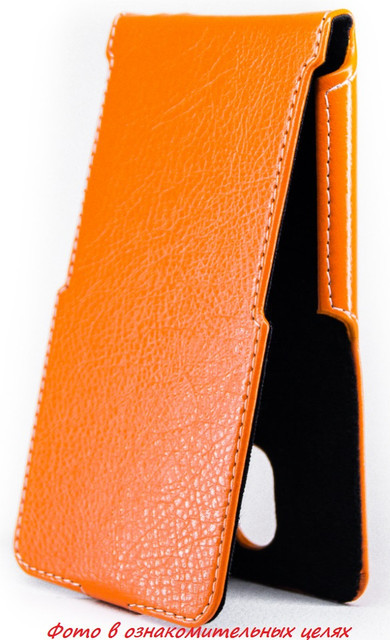 Чехол Status Flip для Samsung B310E Dual Sim Orange
