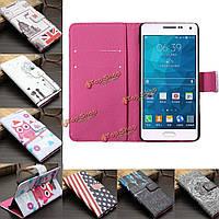 Живопись кармана карта щелкает прикрытием случая из искусственной кожи для Samsung Galaxy a5/a5000