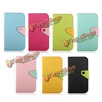 Кнопка кожа бумажник чехол для Samsung Galaxy Mega 6.3 i9200