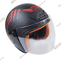 Мото шлем Monster Energy (Red) Котелок, Круизер, Чоппер, полулицевик, фото 1