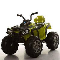 Детский электрический квадроцикл M 3156 EBR-10 зеленый с мягкими колесами и пультом управления