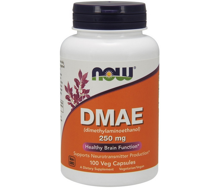 NOW Foods DMAE 100 капсул