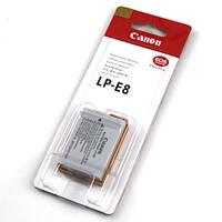 Аккумулятор батарея Canon LP-E8  LPE8 емкость 1 120 mAh 550D, 600D, 650D, 700D
