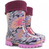 Гумові чобітки (резиновые сапоги) Demar Павліни