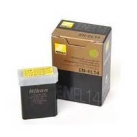 Аккумулятор батарея Nikon EN-EL14 ENEL14 емкость 1 030 mAh  D3100, D3200, D3300, D5100, D5200