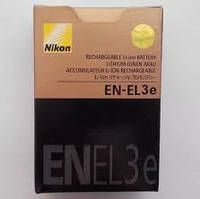 Аккумулятор батарея Nikon EN-EL3E+ емкость 1500mAh D100, D200, D300, D300s, D50, D70, D70s, D80, D90, DSLR D70