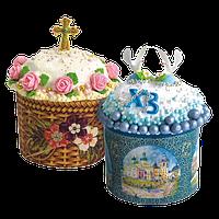 Бумажные формы и украшения для куличей
