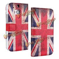 United Kingdom флаг Flip PU кожа защитный чехол для HTC М8