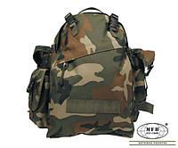 Армейские спецсумкии рюкзаки MFH 40 литров Combo  woodland камуфляж вудлэнд
