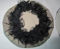 Сеточка для гульки мелкая ячейка. Причёска для бальных танцев, вечерняя причёска. Цвет черный