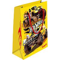 Пакет детский подарочный желтый, 18х24см Hot Wheels Kite