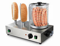 Аппарат для хот-дога с 4 стержнями для булочек HDMH4