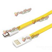 Pisen Зарядный кабель с передачей данных 800мм для мобильного телефона 2.4A плоский Micro-USB