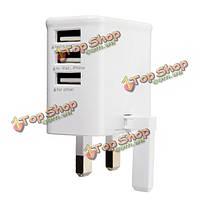 Универсальный британский штепсель 3 USB порта 5V/3a настенный адаптер зарядного устройства путешествия для Samsung iPhone LG