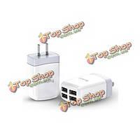 YooBao Yb-703 2.1a 4 Порт USB портативный зарядное устройство адаптер для мобильного телефона