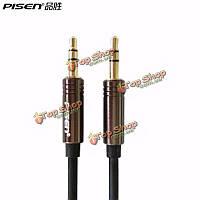 Pisen 3.5мм между мужчинами корпус из алюминиевого сплава 1500мм AUX аудио кабель