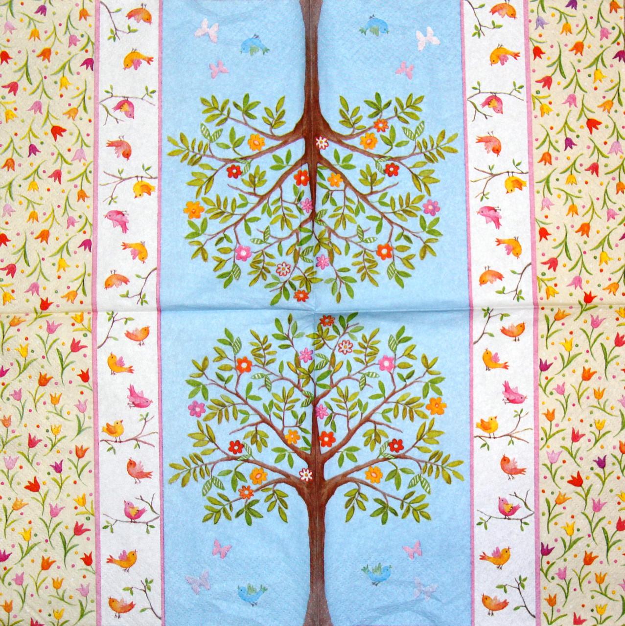 Декупажная салфетка Цветущее деревце 843