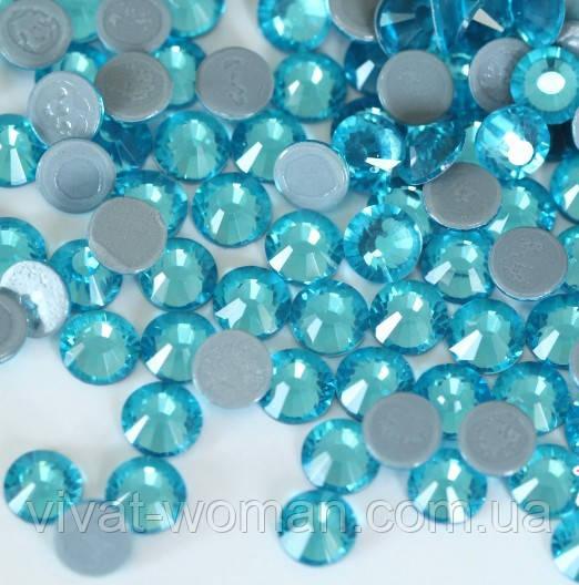 Стразы А+ премиум, Aquamarine (бирюза) SS16 (4,0 мм) термоклеевые. Цена за 144 шт.