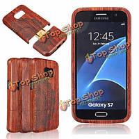 Природные ретро деревянные резные картины бамбук жесткая обложка чехол для Samsung Galaxy S7
