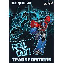 Дневник школьный с твердой обложкой Transformers, Kite