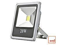 Прожектор светодиодный 20W 12V 1300Lm 6500К Slim (AMI-12120)
